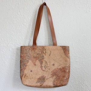 70s Vintage Map Tote Bag